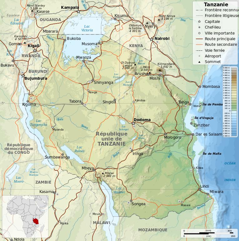 Situation Kilimanjaro en Tanzanie