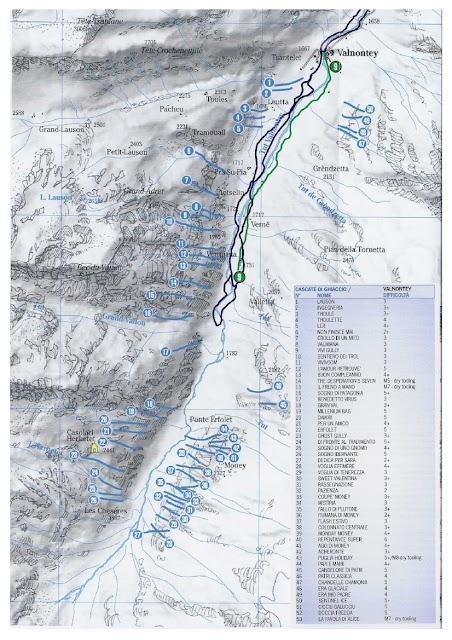 Topo Cascades Glace - Cogne Vallnontey